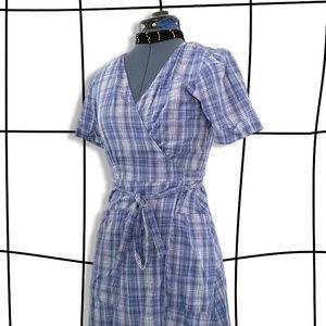Rare reformation plaid wrap dress